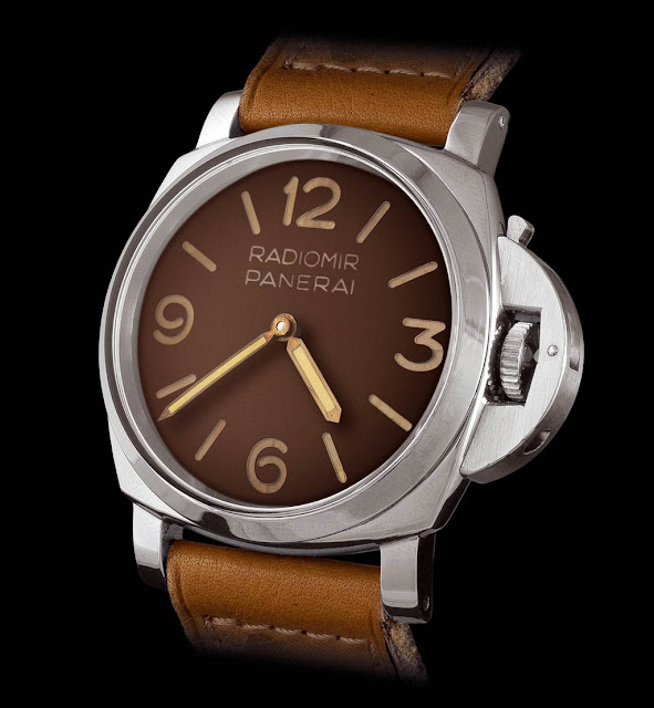 Panerai Reference 6152-1 made in 1955 with the patented crown protection system - Courtesy of John Goldberger