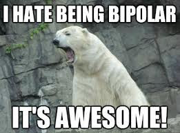 I hate being bi-polar. It's AWESOME!