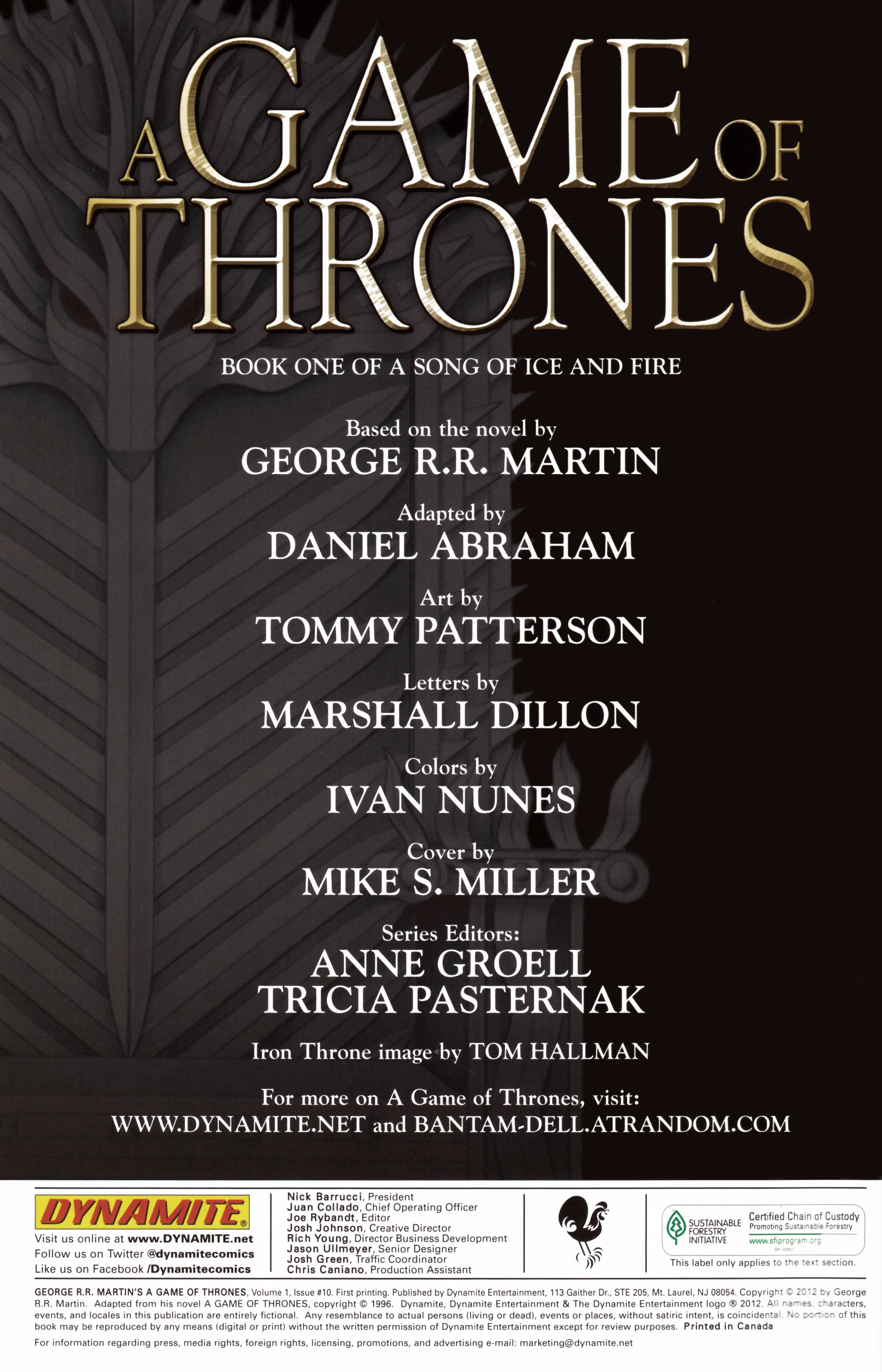 Read online A Game Of Thrones comic -  Issue #10 - 2