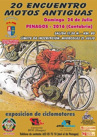 XX Encuentro de motos antiguas 2016 en Penagos