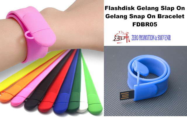 Flashdisk Gelang Slap On / Gelang Snap On Bracelet FDBR05 / USB Flash Disk SLAPPY Slap dan jadi Gelang / USB Gelang / USB Wristband