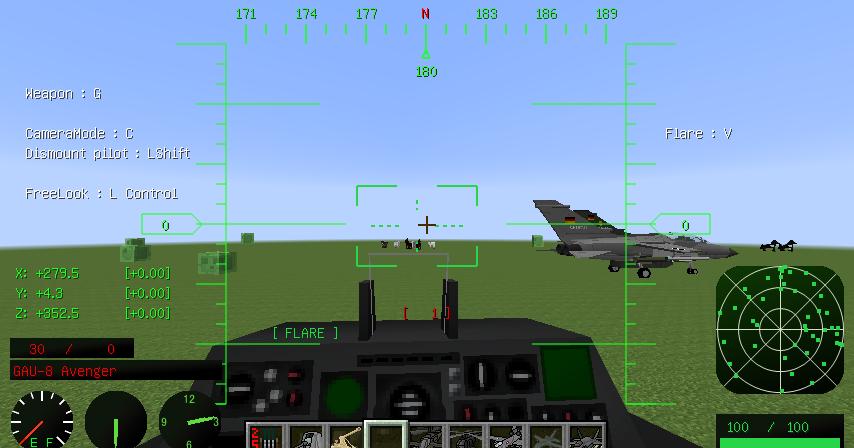 直升機&戰鬥機[單人/多人] - Minecraft Mod 當個創世神模組介紹