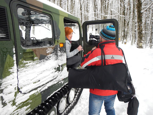 Жуналисты Макс 24. Дорога на Хмелевские озера, зима, Сочи, Красная поляна 2016