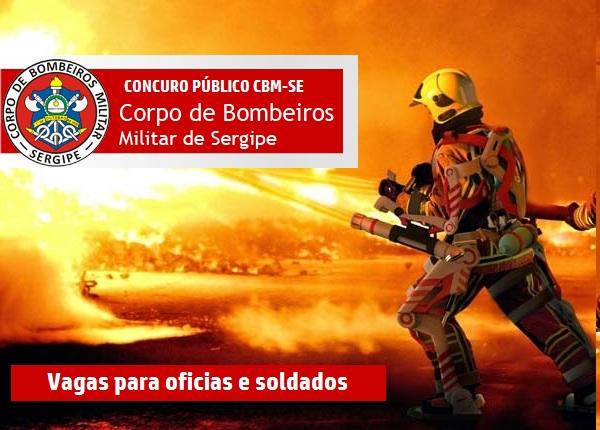 Concurso CBM-SE para Oficias e Soldado Bombeiros-SE