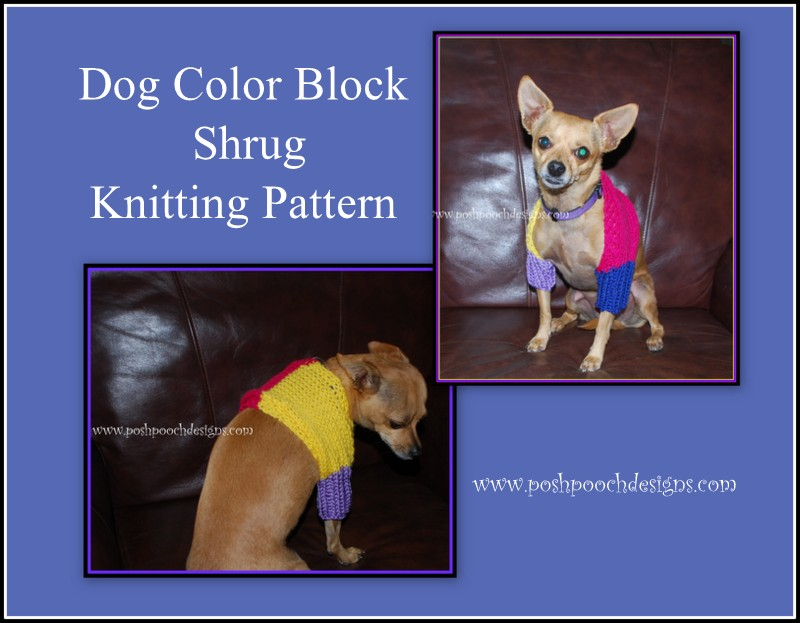 Posh Pooch Designs Dog Clothes: Free Knitting Patterns