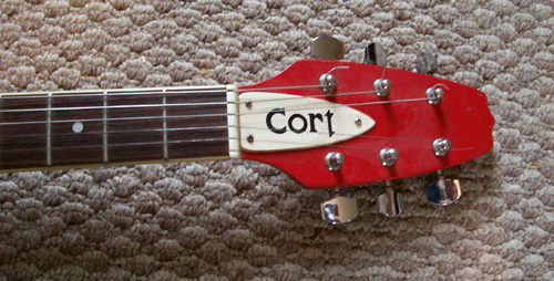 1980s Cort Effector, Explorer Body Shape: Headstock