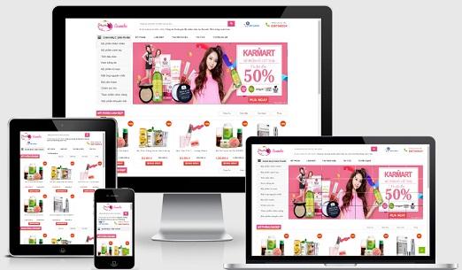 Template blogspot responsive bán hàng mỹ phẩm cực đẹp
