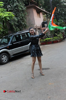 Bollywood Actress Model Urvashi Rautela Stills in Black Dress at Republic Day Celebrations  0002.jpg