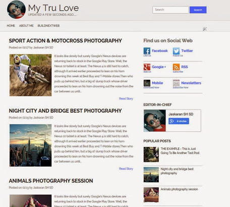 My Tru Love Blogger Template