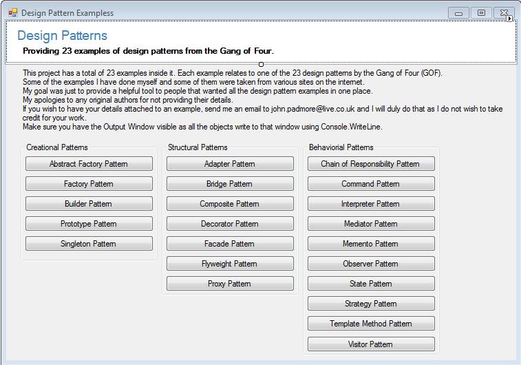 Best Examples Of Design Pattern Using C Fresher2programmer