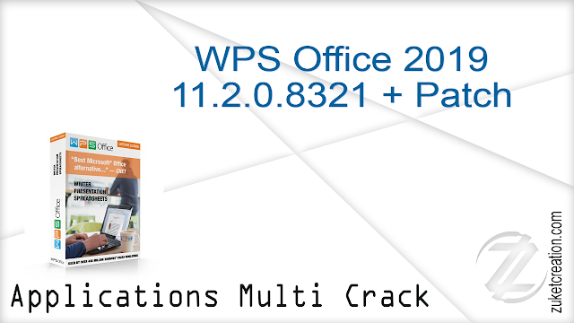 WPS Office 2019 11.2.0.8321 + Patch     112 MB