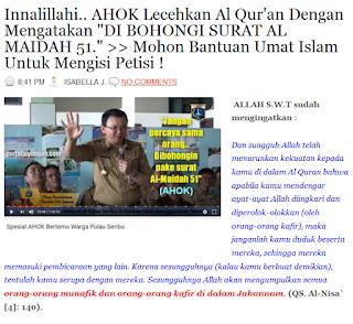 http://duniamuallaf.blogspot.co.id/2016/10/innalillahi-ahok-lecehkan-al-quran.html#more