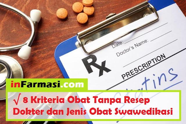 Kriteria obat tanpa resep dokter dan jenis obat swamedikasi