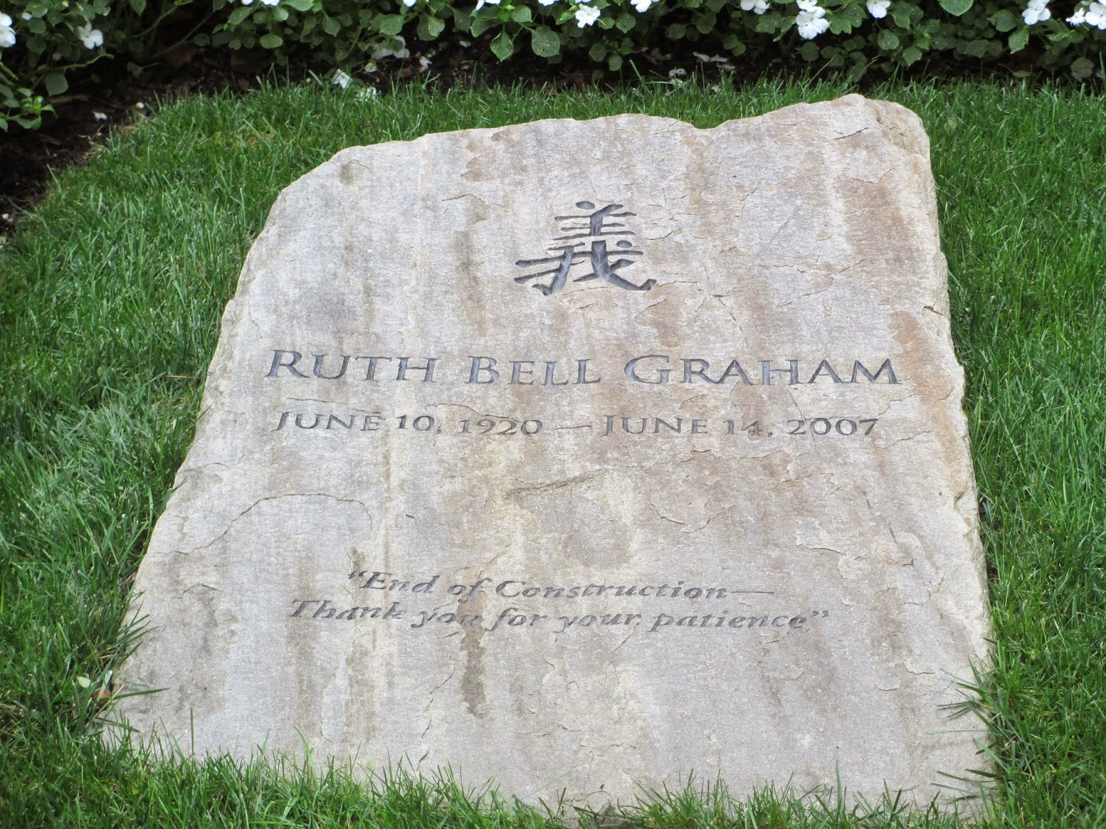 http://commons.wikimedia.org/wiki/File:Gravestone_of_Ruth_Bell_Graham_IMG_4206.JPG#mediaviewer/File:Gravestone_of_Ruth_Bell_Graham_IMG_4206.JPG