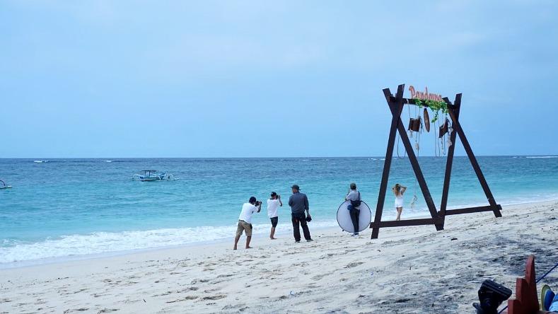 Tamara chloe, Music video shoot, Jerome walker, Imaji Balii, Pandawa beach, Bali, Indonesia
