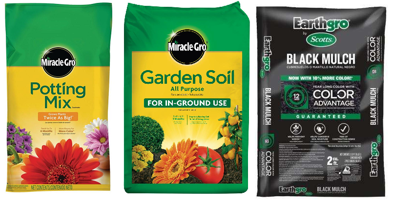 Miracle Gro 25 Quart Potting Mix With Fertilizer 5 Reg 8 97 Miracle Gro 0 75 Cu Ft All Purpose Garden Soil 2 50 Scotts Earthgro 2 Cu Ft Mulch 2 Free Store Pickup At Home Depot Heavenly Steals