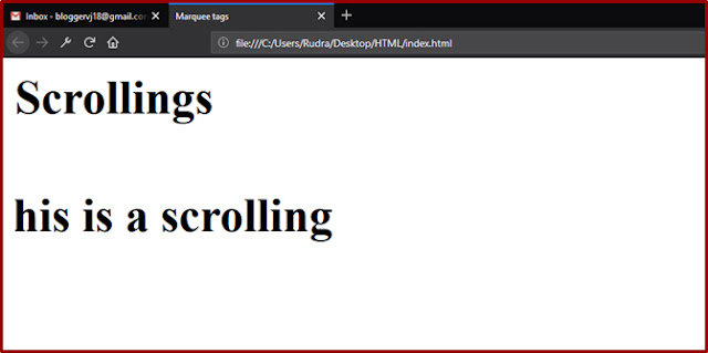 Website Designing Course   How to Create Scrollings in Web Pages in Telugu