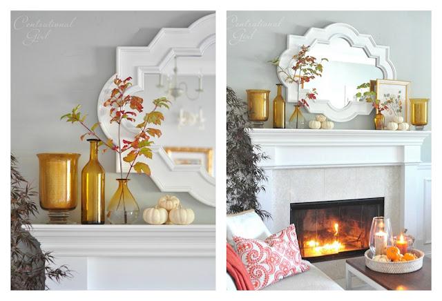 jesienna dekoracja w mieszkaniu