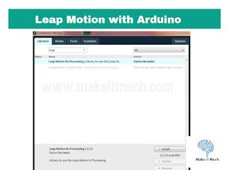 how to install leap motion library in processing