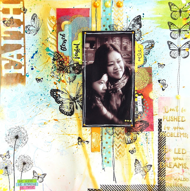 Faith Layout by Irene Tan using BoBunny Faith Collection