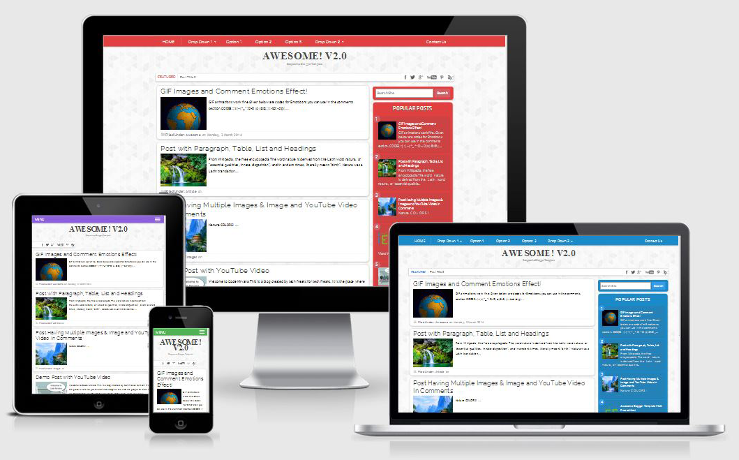 awesome v2 responsive blogger template blogger templates gallery