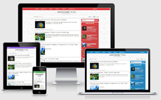 Awesome V2 Responsive Blogger Template