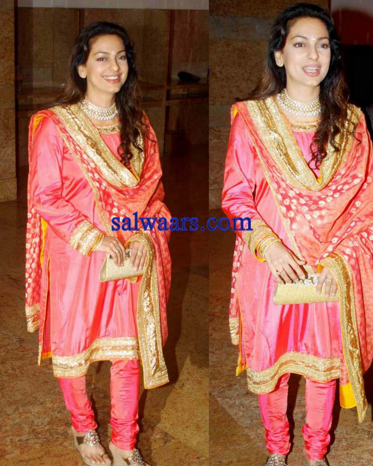 Bollywood Celebrities Salwar Kameez At Shilpa Shetty