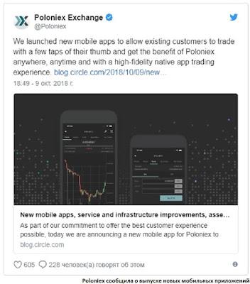 Poloniex сообщила о выпуске новых мобильных приложений