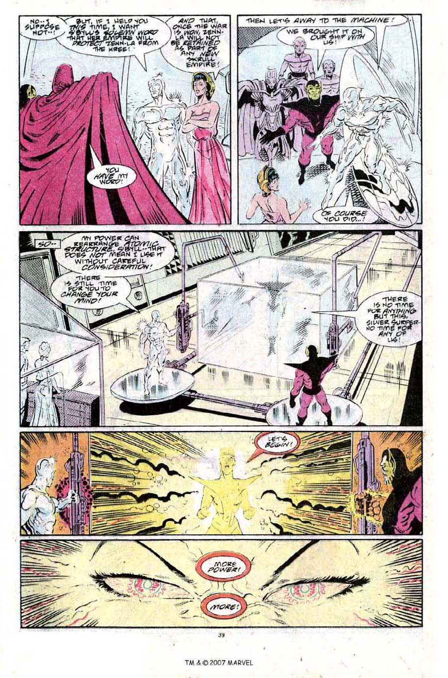 Read online Silver Surfer (1987) comic -  Issue #25 - 41
