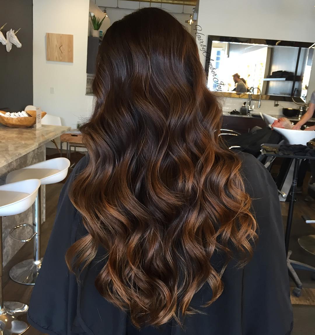 braune haare mit highlights