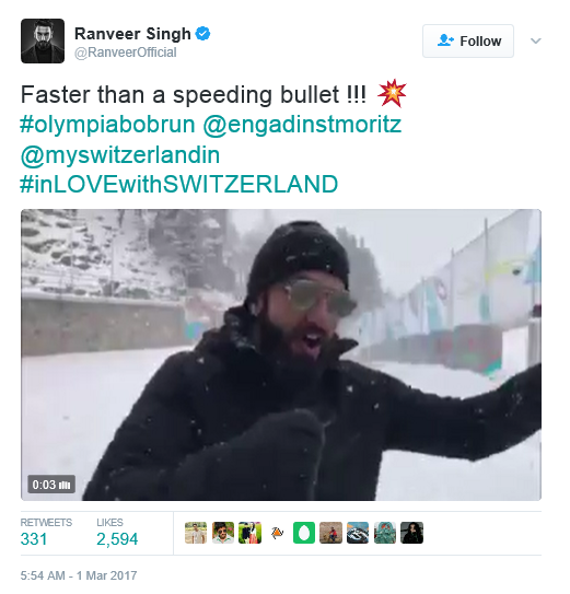 Watch: Ranveer Singh faster than a bullet train