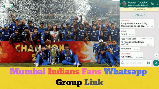 90+ Best Mumbai Indians Fans Whatsapp Group Link List