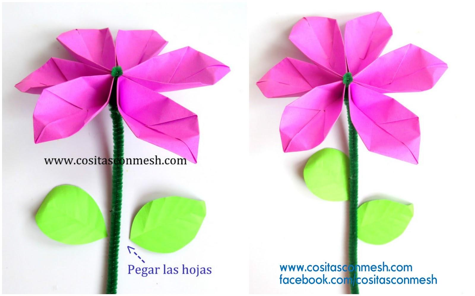 Tutorial fcil para hacer hermosas flores de papel en 3 minutos