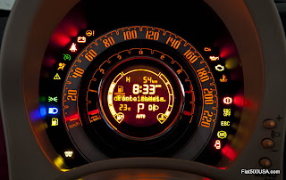 Fiat 500 Lounge Instrument Panel