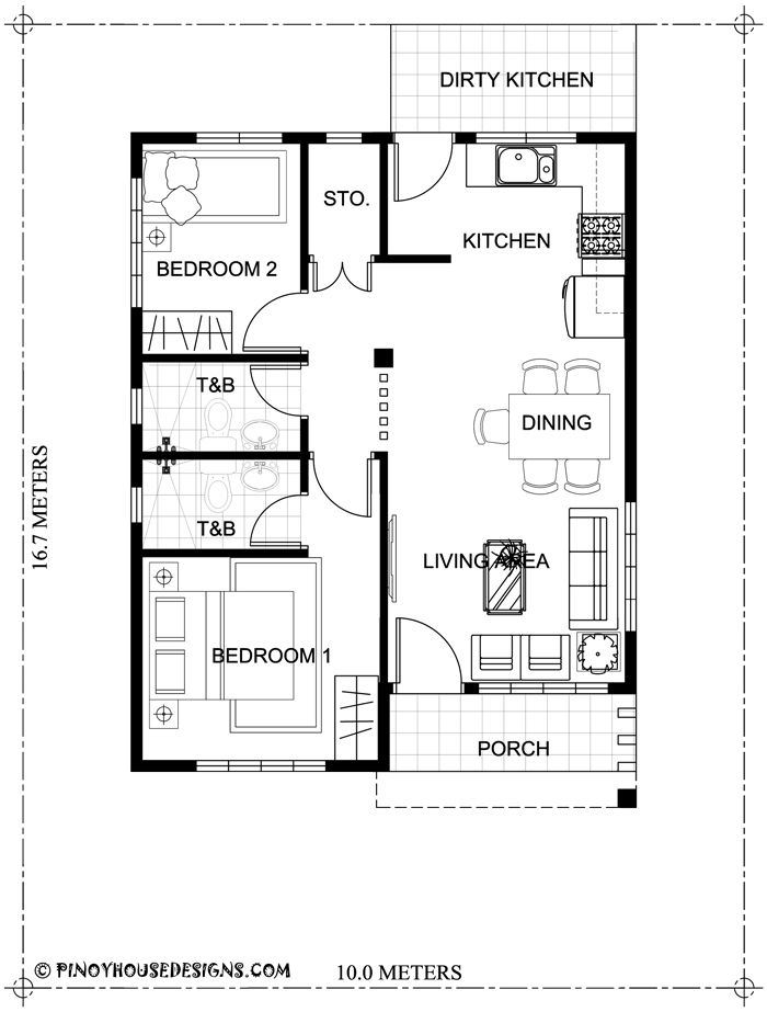 10 small home blueprints and floor plans for your budget below p1 this is a three bedroom bungalow house design with 82 sqm floor area and can be erected in 167 sqm lot area estimated rough finished cost for this house is malvernweather Image collections