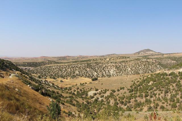 הנוף מאתר החפירות של הדינוזאורים