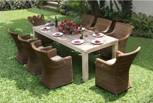 Seville recycled teak dining set