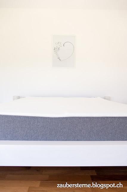 Emma Matratzen, weisses Bett, Bett anmalen, Kreativblog Schweiz