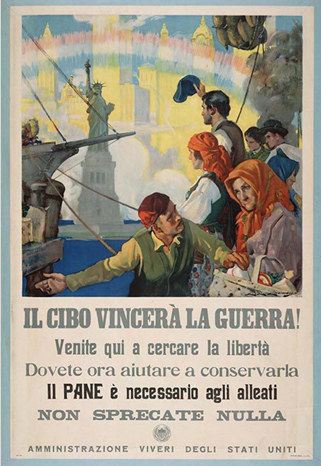 Il Cibo Vincerà la Guerra! (Food Will Win the War!), ca. 1917, Charles E. Chambers.