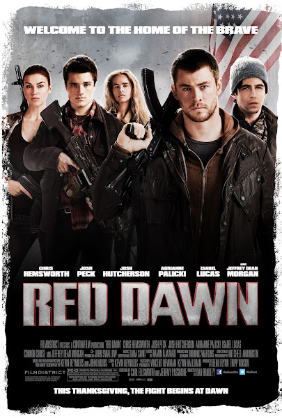 Poster Of Red Dawn 2012 720p Hindi BRRip Dual Audio Full Movie Download