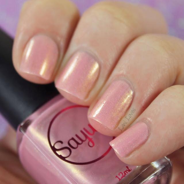 Sayuri Nail Lacquer - Frosted Fairycakes nail polish swatches & review