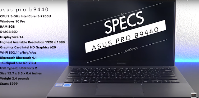 Asus Pro B9440 business laptop features review