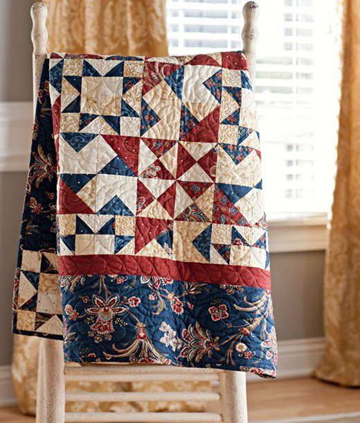 Spinning Stars Quilt Free Pattern
