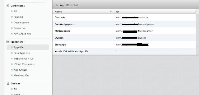 Select App IDs
