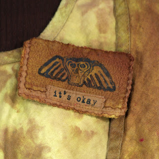 it's okay - linen brooch from secret lentil - hand made and dyed