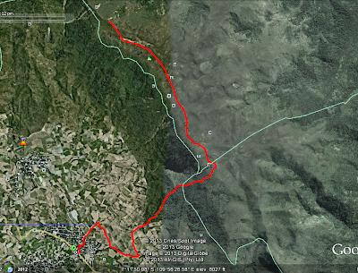 jalur gunung prahu,patak banteng