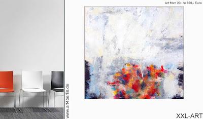 Akzente mit moderner Acrylmalerei im Raum setzen