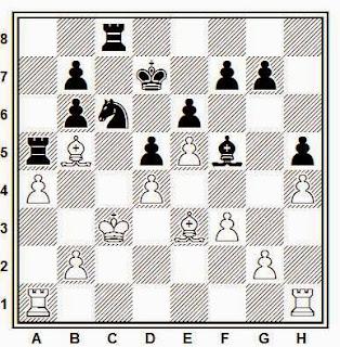 Posición de la partida de ajedrez Fabio la Rota - Benjamín (St. John, 1988)