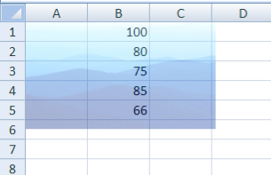 background in excel sheet