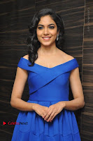 Actress Ritu Varma Pos in Blue Short Dress at Keshava Telugu Movie Audio Launch .COM 0037.jpg